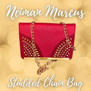 Neiman Marcus Studded Chain Bag
